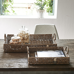 RM diamond weave serving tray x 2  rotting - Riviera Maison