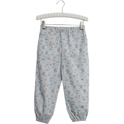 Trousers Malou Pearl Blue Flowers - Wheat