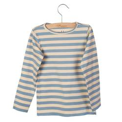 LITTLE HEDONIST LONGSLEEVE ELANA BLEACHED SAND STRIPED Blå - Little Hedonist