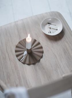 KRUM CANDLE HOLDER Brun - Ygg & Lyng
