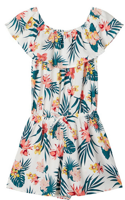 Name it Vinaya Playsuit Blomstertret/ snow white - Name It