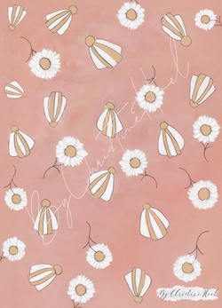 Beach Flowers Beach Flowers Miniprint - 10x15 cm - By Christine Hoel