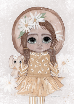 Poppy - Flowergirl - By Christine Hoel Poppy - Flowergirl - A4 - By Christine Hoel