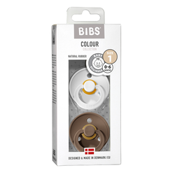 Bibs Colour 2pk White/Dark Oak - Bibs