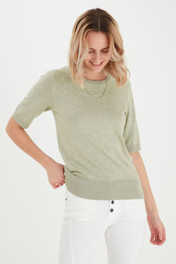 PZ SARA PULLOVER shadow lime - Pulzjeans
