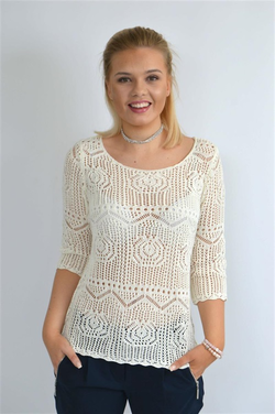 STEEAM knitted pullover Offwhite - Steeam