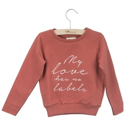 LITTLE HEDONIST SWEATER CECILIA PRINT BRICK - Little Hedonist