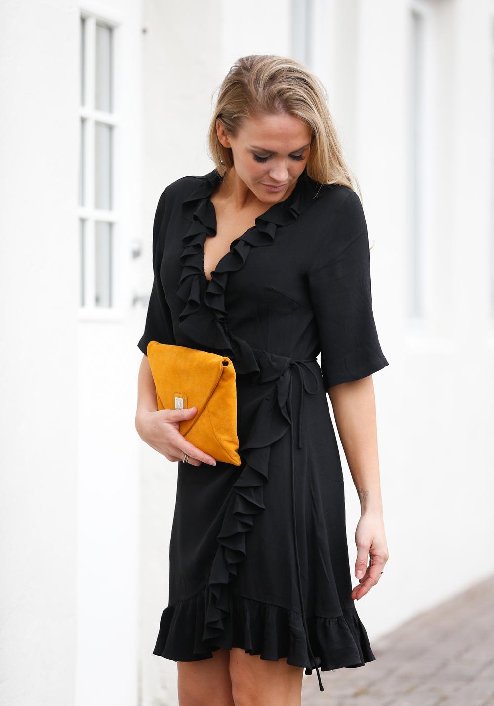 Just female queen wrap dress
