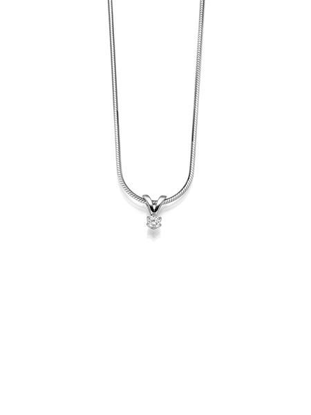 82678071 GD hvittgull anheng med diamant 0,06 ct W/SI