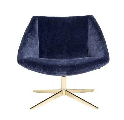 Stol Charlton Velur Blå Trend Design