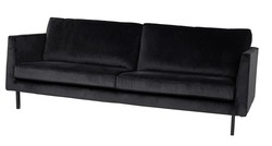 Perugia sofa 3-seter velvet Onyx - Trend Collection