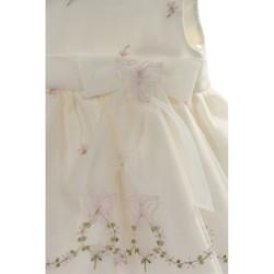 5c5281bcf2da Pascal babykjole med sommerfugler ivory rosa