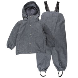 Ever Rainwear - dark navy i pustende materiale, En Fant Dark Navy / Grey - En Fant