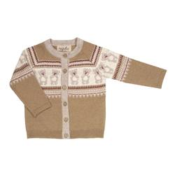 MEMINI TEDDY CARDIGAN LIGHT BROWN - Memini