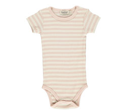 Plain Body SS, Modal Stripes Rose/OffWhite - MarMar Copenhagen