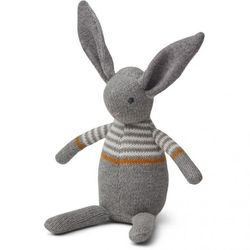 Strikket Bamse/Rangle  Rabbit grey - Liewood