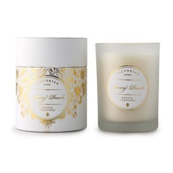 Juicy peach duftlys Hvit - Victorian candles