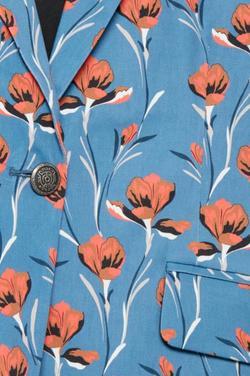 4a4f8283 PULZ - Lucky blazer Blå med mønster - Pulz