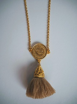 Gold Tassel Necklace long Moccachino - Isle&Tribe