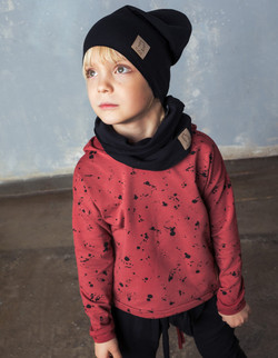 SWEATSHIRT / HOODIE red stone with black spots - Tuss