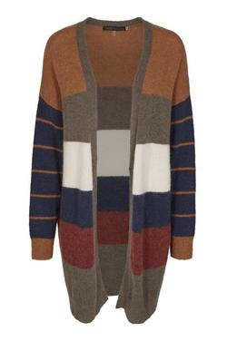 KAREN BY SIMONSEN - Medition stripete cardigan Stripet - Karen By Simonsen