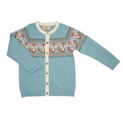 Fox surf blue ull cardigan Blå - Memini