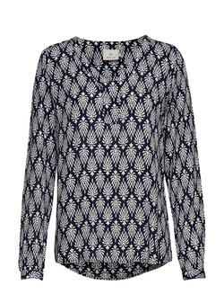 Amber jas blouse Midnight navy - Kaffe