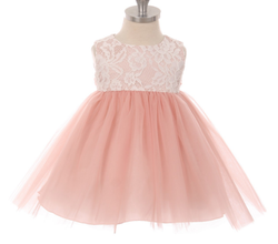 Kid´s dream - Babykjole lace illusion, Dusty Rose Rosa - Kids dream