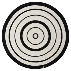 CIRCLE RUG black and white - OYOY